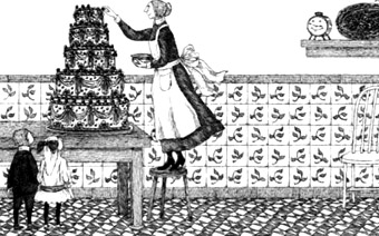 Edward Gorey Picture of Cake