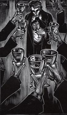 Lynd_Ward_(1929)_Gods'_Man_-_surrounded_by_wineglasses